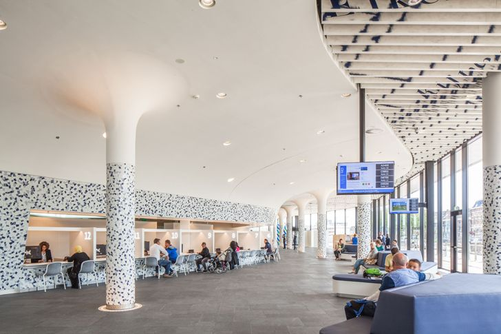 """ticketing foyer delft city hall railway station mecanoo architects indiaartndesign"""