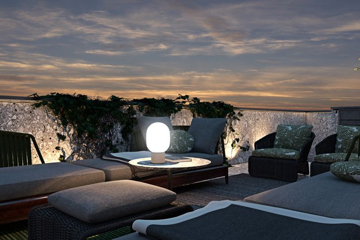 """terrace in paris by night diff studio indiaartndesign"""