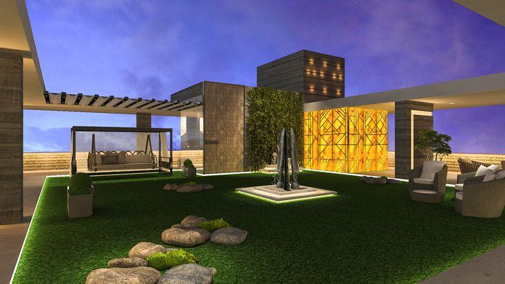 """sculpture centrepiece terrace mahesh punjabi associates indiaartndesign"""