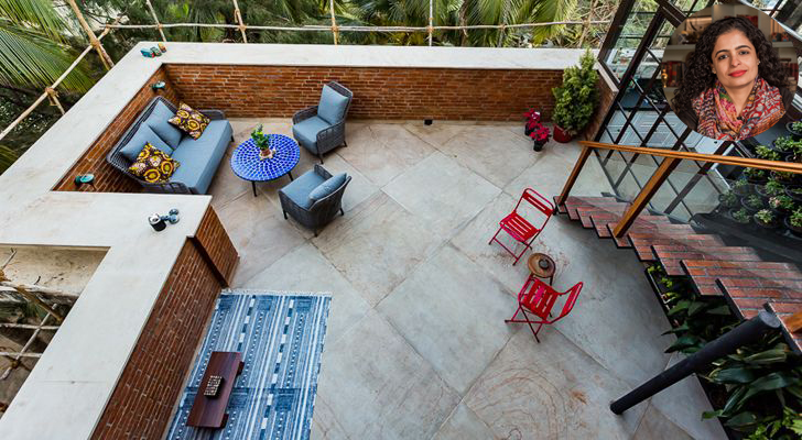 """aerial view terrace the orange lane indiaartndesign"""