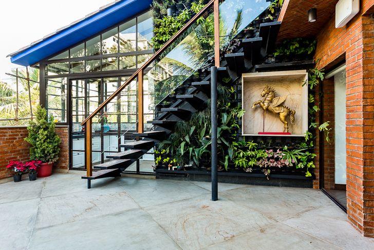 """vertical garden terrace the orange lane indiaartndesign"""