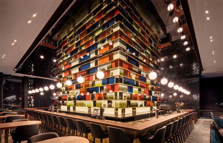 """colourful Muniq o bar hotel andaz munich concrete amsterdam indiaartndesign"""