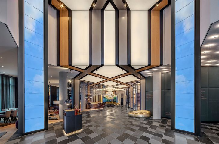 """entrance lobby hotel andaz munich concrete amsterdam indiaartndesign"""