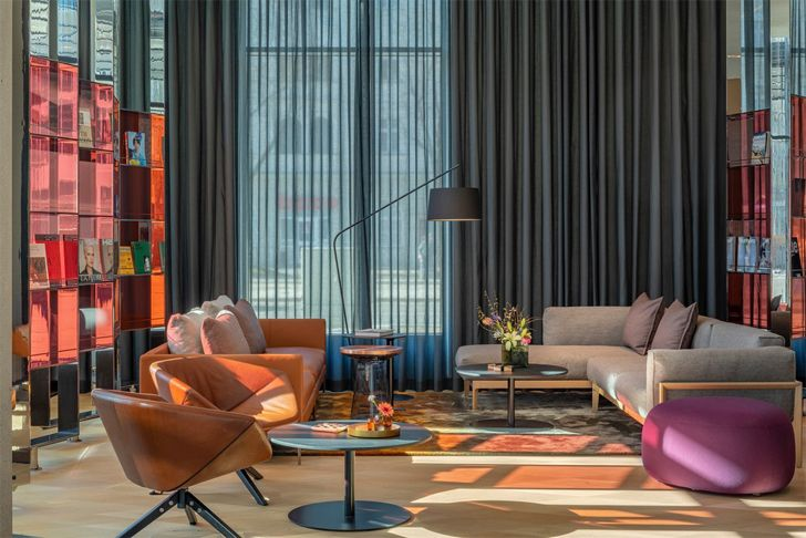 """lobby seating hotel andaz munich concrete amsterdam indiaartndesign"""