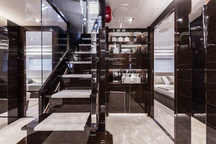 """hall2 pearl 95 yacht interiors kelly hoppen indiaartndesign"""