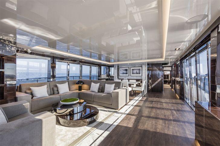 """main saloon1 pearl 95 yacht interiors kelly hoppen indiaartndesign"""