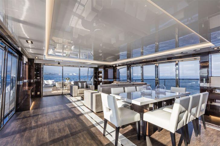 """main saloon2 pearl 95 yacht interiors kelly hoppen indiaartndesign"""