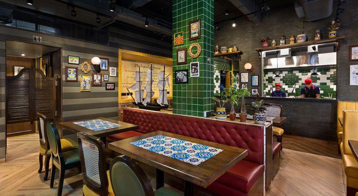 """Barcelos restaurant Studio osmosis indiaartndesign"""