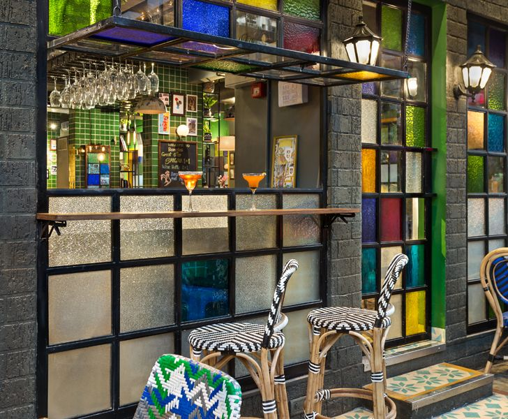 """bar Barcelos restaurant Studio osmosis indiaartndesign"""