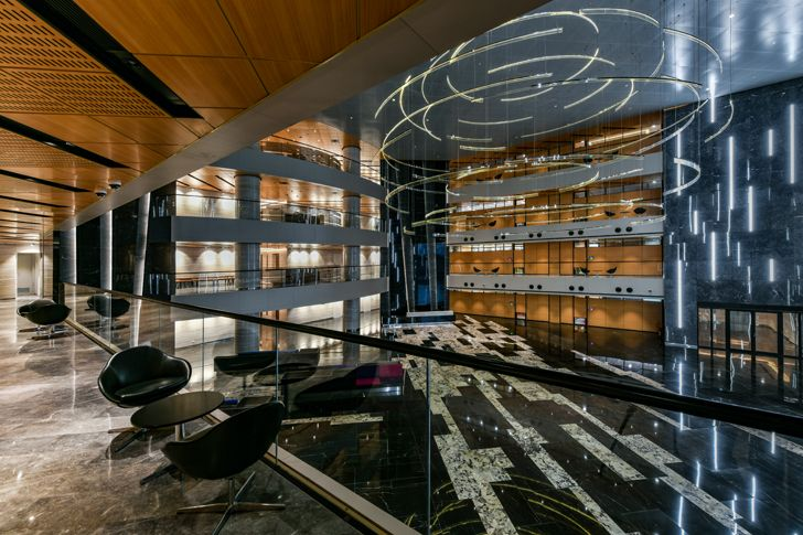 """atrium from upper level adani house archgroup international indiaartndesign"""