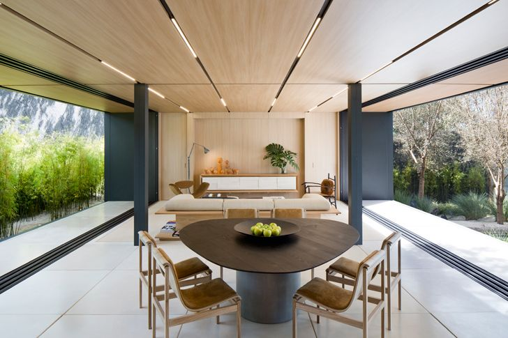 """Living dining SysHaus Arthur Casas Design prefabricated homes indiaartndesign"""