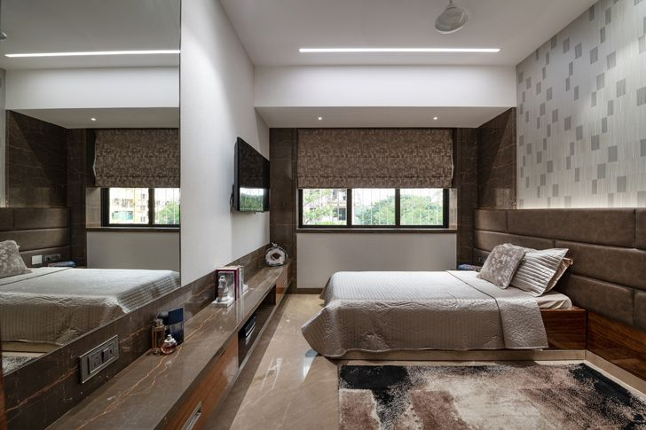 """bedroom contemporary home navi mumbai GA Design indiaartndesign"""