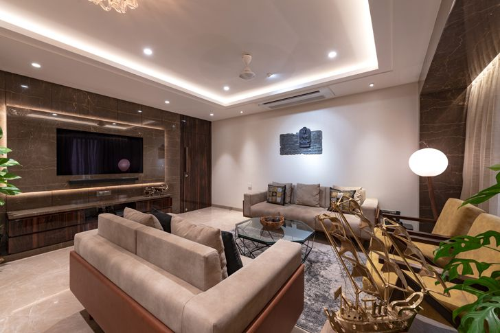 """living room contemporary home navi mumbai GA Design indiaartndesign"""