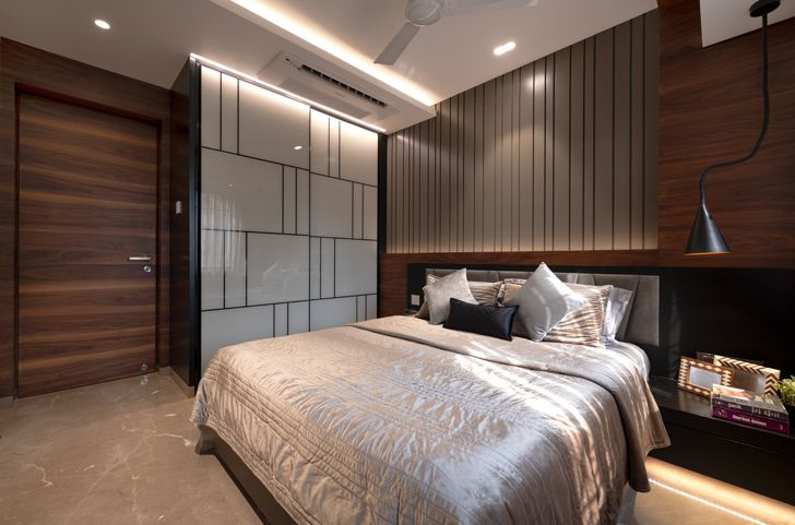 """luxurious bedroom contemporary home navi mumbai GA Design indiaartndesign"""