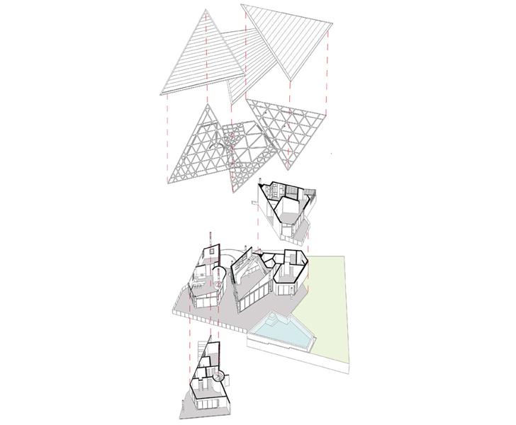 """axonometric view drift house architect shonan trehan LAB indiaartndesign"""