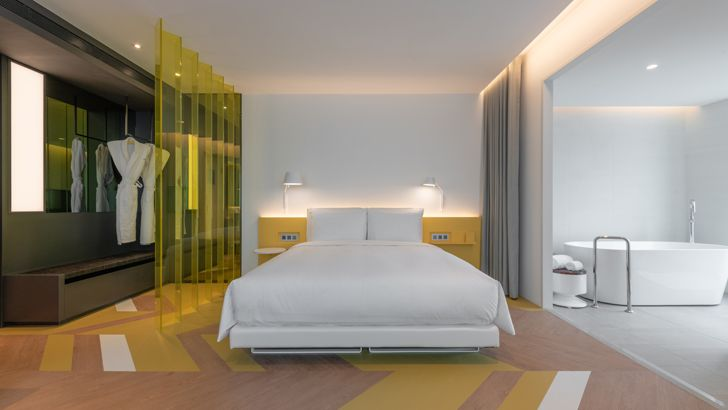 """bedroom suite The Place Taipei Mecanoo Architects indiaartndesign"""