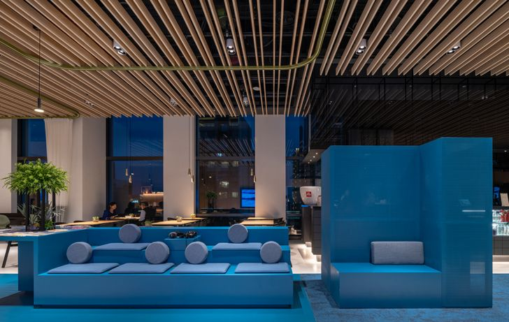 """casual seating lobby The Place Taipei Mecanoo Architects indiaartndesign"""
