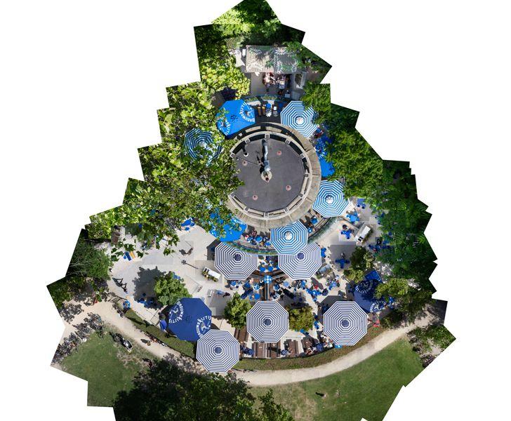 """""""aerial view site blauwe theehuis studio modijefsky indiaartndesign"""""""
