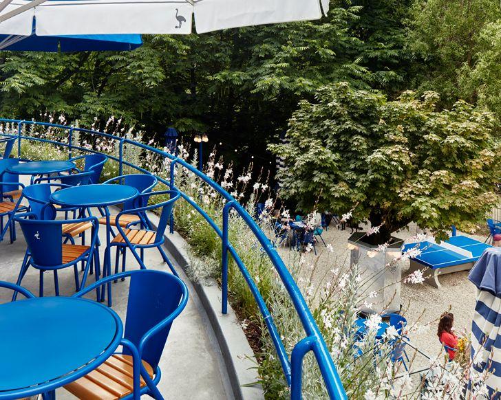 """""""terrace view blauwe theehuis studio modijefsky indiaartndesign"""""""