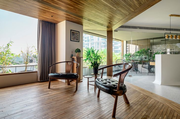 """lounge office surat neogenesis+studio261 indiaartndesign"""