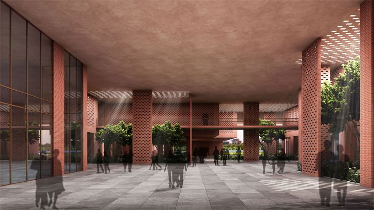 """atrium Prestige University Indore Sanjay Puri Architects Indiaartndesign"""