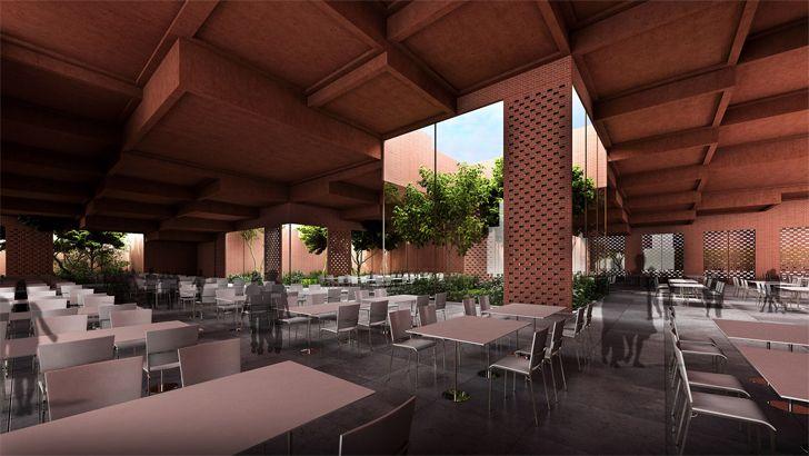 """food court Prestige University Indore Sanjay Puri Architects Indiaartndesign"""
