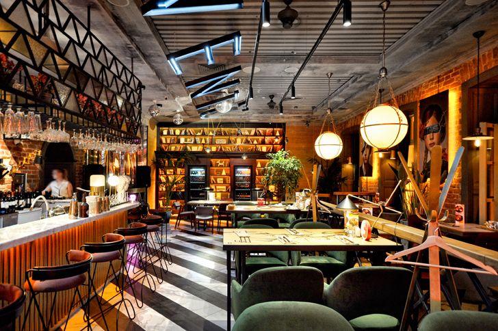 """lettered chandelier Robbie Italian cafe Samara ALLARTSDESIGN indiaartndesign"""