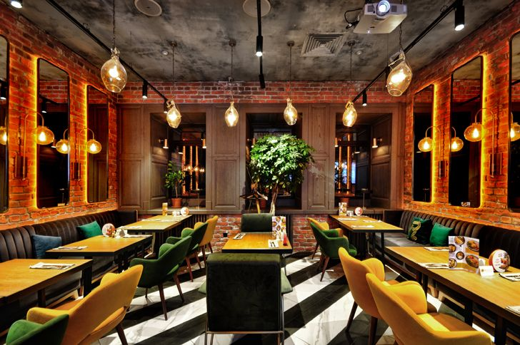 """monochrome flooring Robbie Italian cafe Samara ALLARTSDESIGN indiaartndesign"""