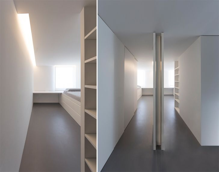 """corridor with bookshelves the fourth room fran silvestre arquitectos indiaartndesign"""