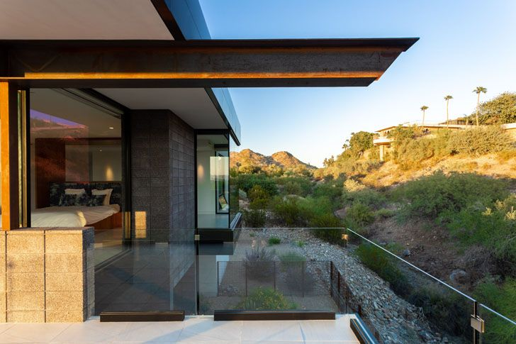 """upstairs patio and cantilever bridge view house kendle design collaborative indiaartndesign"""