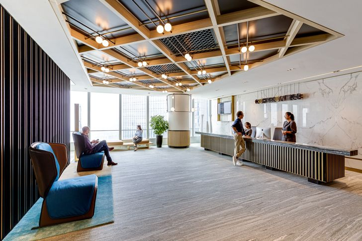 """reception Cohesion co working space SHH architects indiaartndesign"""