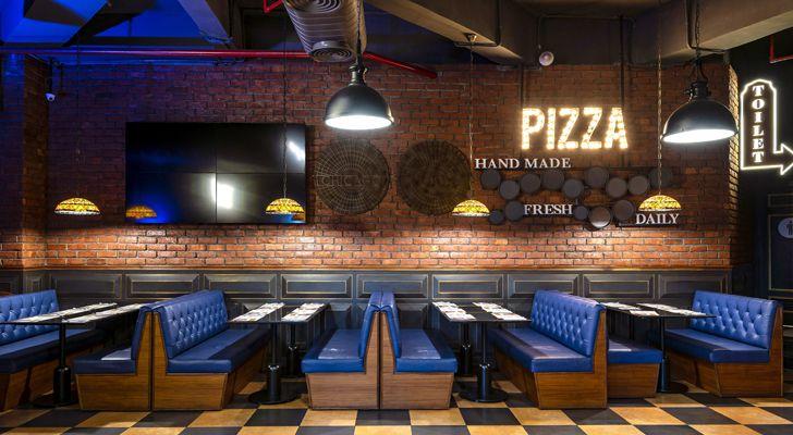 """""""seating Uno pizzeria Noida chromed design studio indiaartndesign"""""""