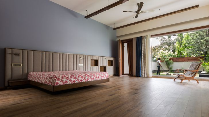 """bedroom suite noida bungalow anagram architects indiaartndesign"""
