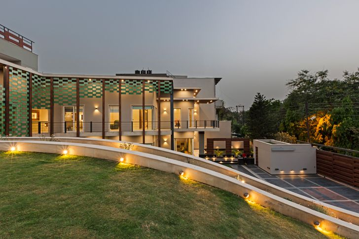 """by night noida bungalow anagram architects indiaartndesign"""