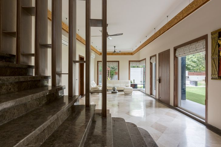 """expansive living area noida bungalow anagram architects indiaartndesign"""