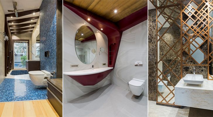 """restrooms noida bungalow anagram architects indiaartndesign"""