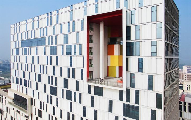 """dynamic building scale TCS campus Kolkata CanonDesign indiaartndesign"""