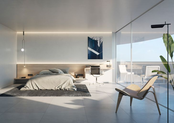 """bedroom kouros tower fran silvestre arquitectos indiaartndesign"""