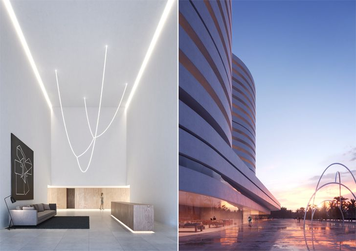"""interiors and facade kouros tower fran silvestre arquitectos indiaartndesign"""