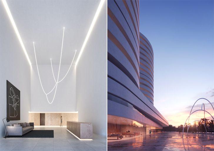 """""""interiors and facade kouros tower fran silvestre arquitectos indiaartndesign"""""""