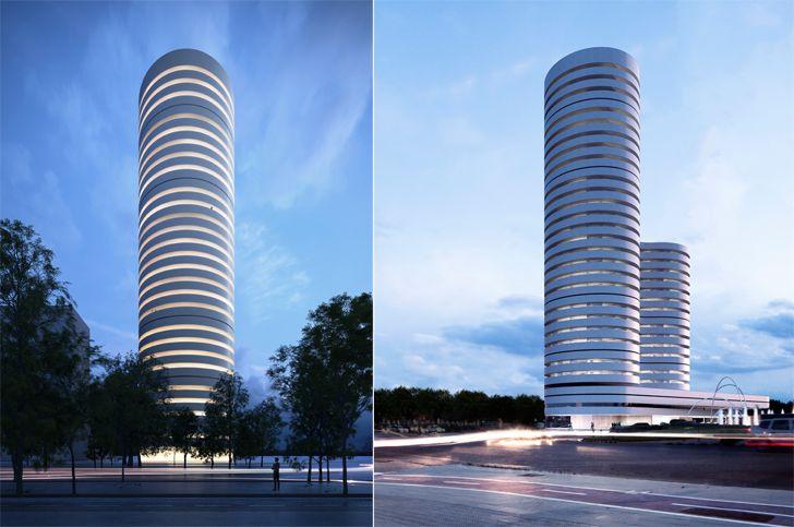 """""""kouros tower fran silvestre arquitectos indiaartndesign"""""""
