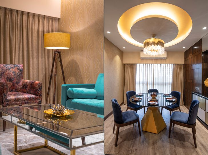 """gold accents gold dust apartment GA Design indiaartndesign"""