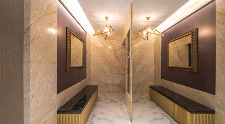 """gold dust apartment GA Design indiaartndesign"""