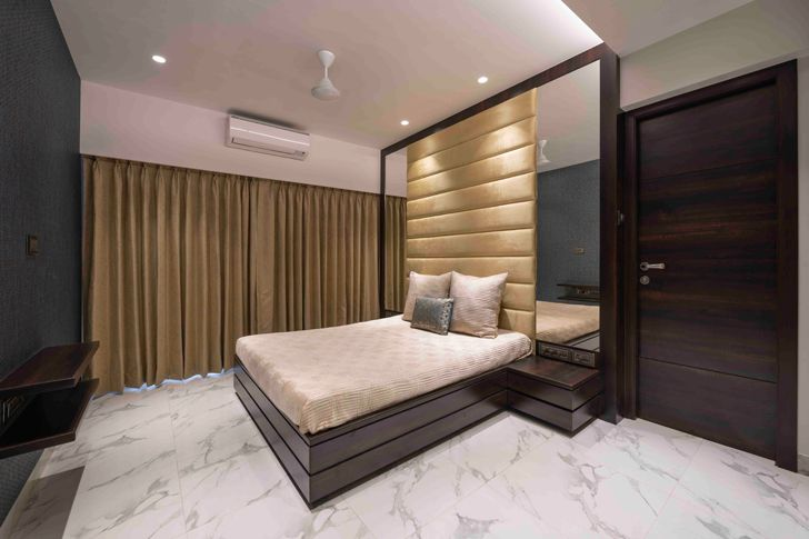 """guest bedroom gold dust apartment GA Design indiaartndesign"""