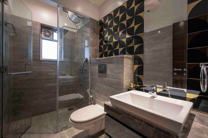 """luxurious bathroom gold dust apartment GA Design indiaartndesign"""