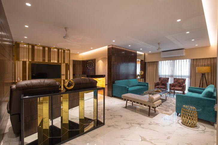 """open plan gold dust apartment GA Design indiaartndesign"""