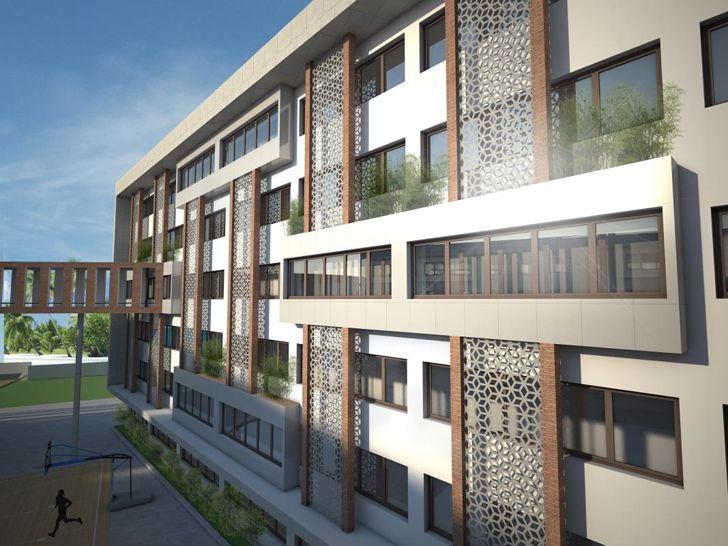 """facade gems school kochi creative group indiaartndesign"""