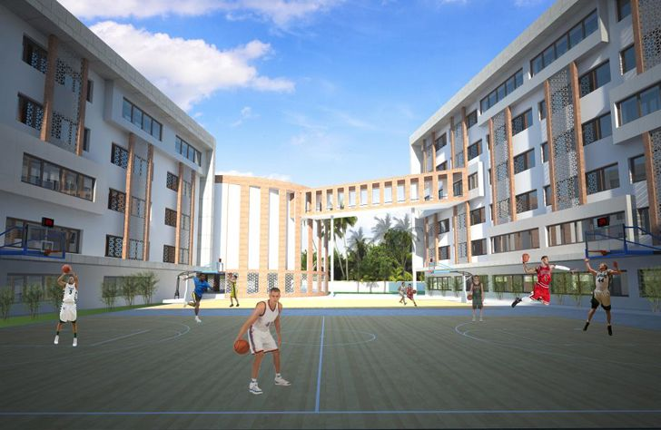 """internal courtyard gems school kochi creative group indiaartndesign"""