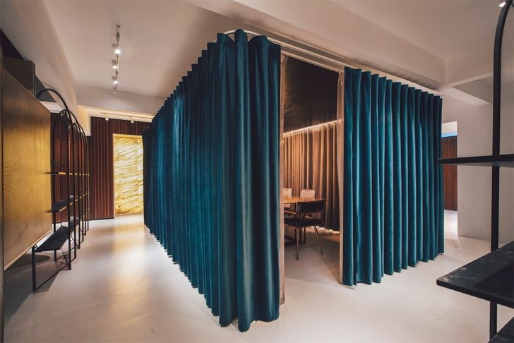 """curtains soft touch mantab worksplace SLAB10 indiaartndesign"""