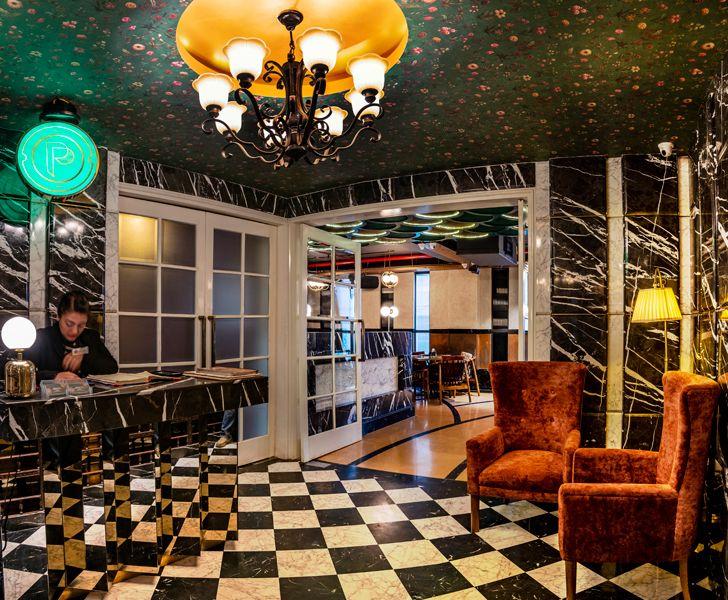 """""""reception foyer pikkle restaurant chromed design indiaartndesign"""""""